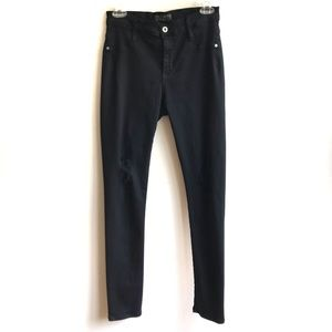 James Jeans Black Distressed Twiggy Dancer 31